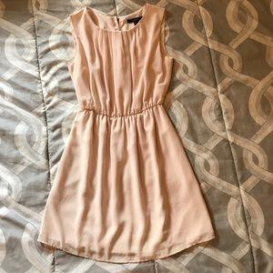Vintage inspired cream chiffon dress