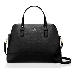Kate Spade Grand st Rachelle sm black leather bag