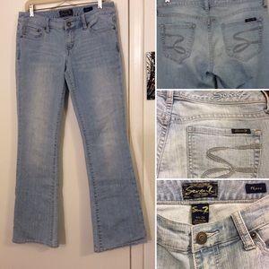 Seven7 Light Blue Flare Jeans