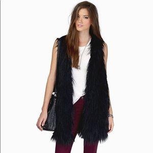 Tobi Can't be Tamed Black Fur Vest