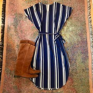 Vintage boho urban striped midi dress Sundress