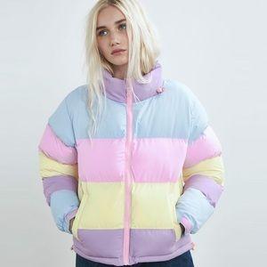Lazy Oaf Pastel Puffer Jacket