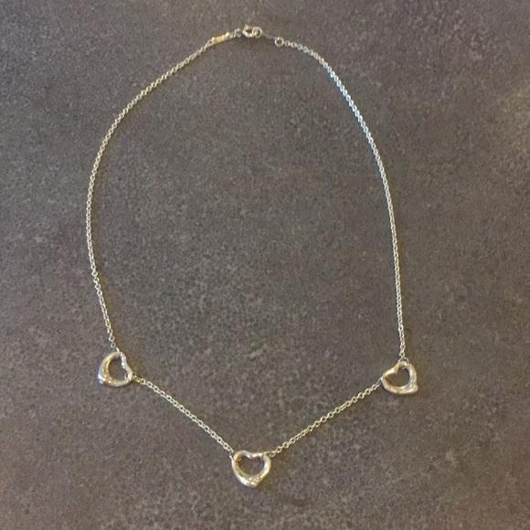 6c5f9f8cc3e72 Tiffany & Co Three Heart Necklace
