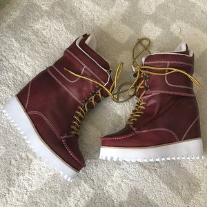 NEW RARE Jeffrey Campbell Ridgeway Wedged Boots
