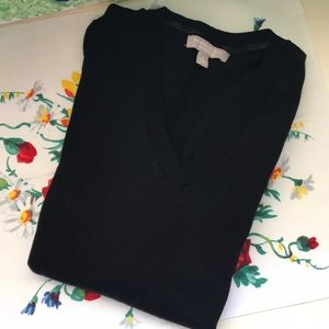 Banana Republic merino wool v-neck black sweater