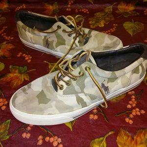 Polo by Ralph Lauren Size 9.5 Vaughn Camo Shoes!