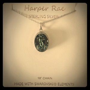 NIB Oval Cut Swarovski Sterling Silver Necklace