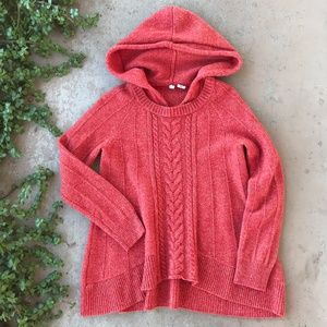 Anthropologie Moth Red Fireside Pullover Sweater