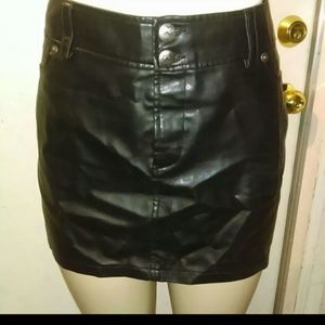 Foux Leather mini Skirt.