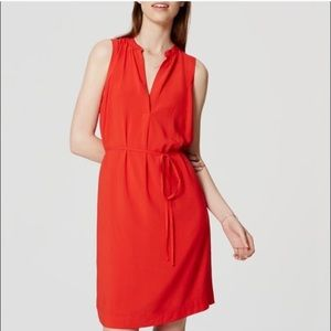 NWT LOFT Sleeveless tie waist shirt dress