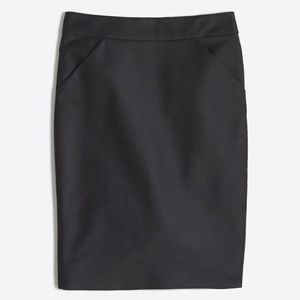 J. Crew The Pencil Skirt Double Serge Cotton NWOT