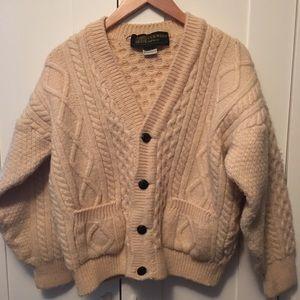 Vintage 100% wool cardigan