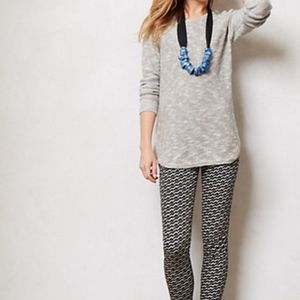 Anthropologie Slubby Button-back Pullover Sweater