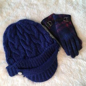 Ralph Lauren Michael Kors Hat and Gloves Set
