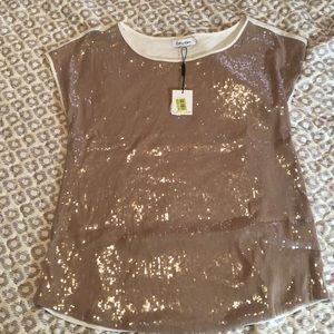 Sequined front Calvin Klein shirt