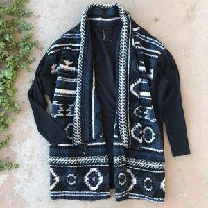 Dolan Anthropologie Black Blanket Open Cardigan