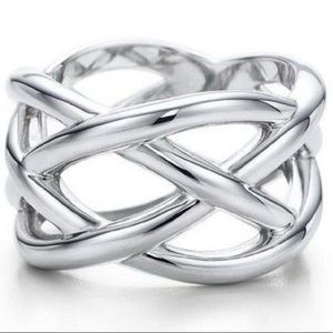 Tiffany & Co. Sterling Silver Weave Ring