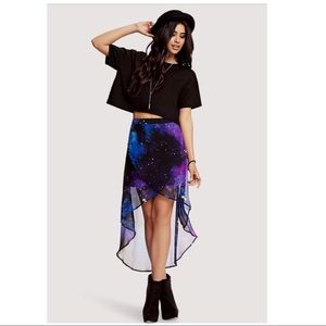🖤💜💙FOREVER 21 Highlow Galaxy Skirt💙💜🖤MEDIUM