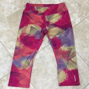 Crop Multi color Reebok running pants.