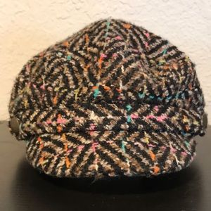 Woman's Multi-colored Newsboy Hat