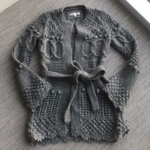 Anthropologie Gray Open Front Sweater