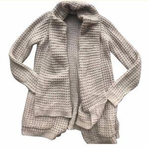 Anthropologie Cream Beige Open Weave Sweater