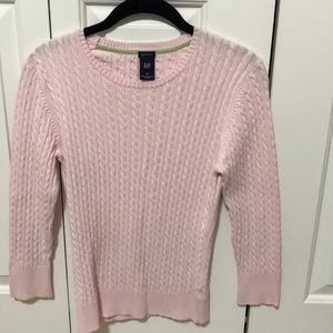 GAP thin cable soft gum pink sweater