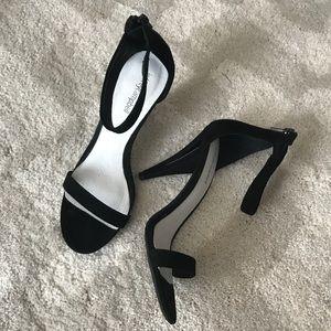 NEW Jeffrey Campbell BURKE-MH Black Suede Heels