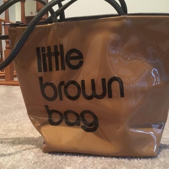 a77412dbbf Bloomingdale's Handbags - Bloomingdales little brown bag plastic purse