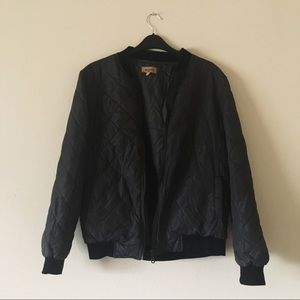 New Beulah Bomber Green Black Puffer Jacket