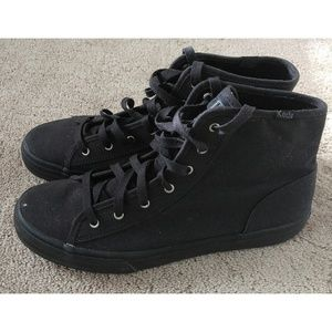 Keds High Top All Solid Black Sneakers Chucks