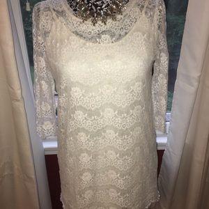 Forever 21 White Lace Mini Dress
