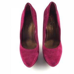 Jessica Simpson PlatformPumps Pink Suede Leather