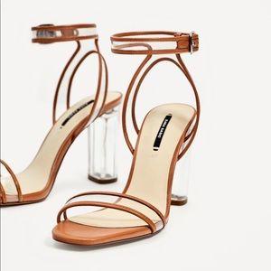 Zara Clear Heel Sandal