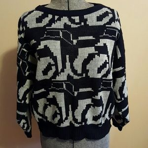 Vintage Black and White Sweater
