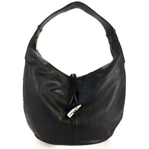 Burberry London  Authentic Italy Leather Loop Hobo
