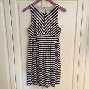 Loft Keyhole Stripe Dress