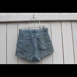 American Apparel Denim High Waisted Shorts