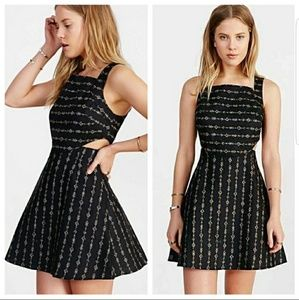 NWT Ecote Black Cut-Out Fit & Flare Dress