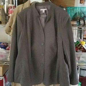 NWT  Graphite grey plus blazer jacket Macy's  24W