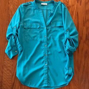 Blue Calvin Klein Dress Shirt