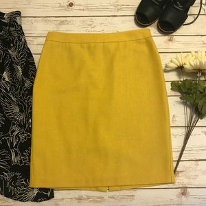 CAbi Pencil Skirt in Bright Mustard Yellow