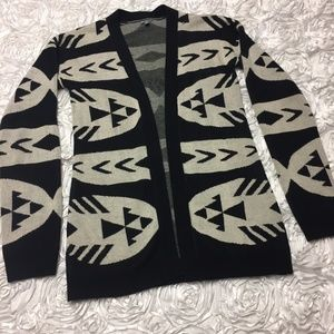 Charlotte Russe cardigan tribal/geometric print