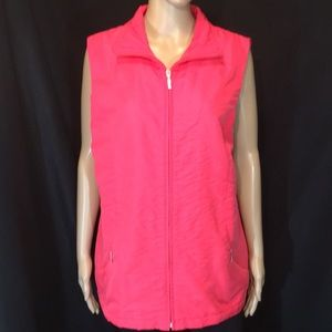 Allison Daley Quilted Polyester Vest 16W Pink EUC