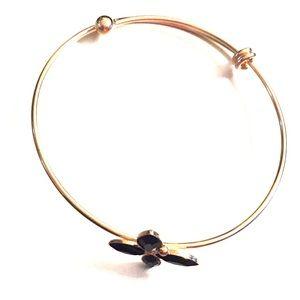 14k gold plated bracelet w/Crystals