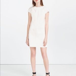 Zara Faux Leather Dress w/ Zipped Shoulder