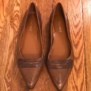 Nine West leather loafers, never worn