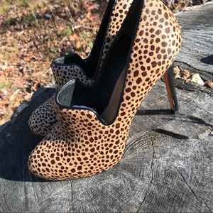 Ann Taylor Leather Heels Black Leather Trim 7.5