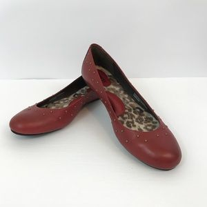 Born Leather Studded Flats