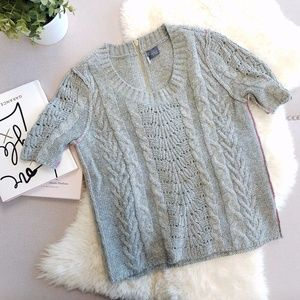 ❄️ Urban Outfitters | Short Sleeve Cable Sweater